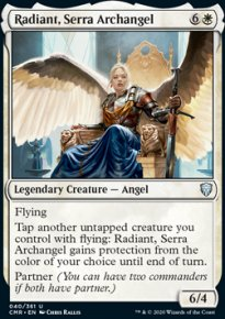 Radiant, Serra Archangel - Commander Legends
