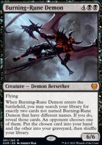 Burning-Rune Demon 1 - Kaldheim
