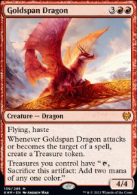 Goldspan Dragon 1 - Kaldheim