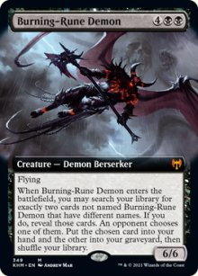 Burning-Rune Demon 2 - Kaldheim