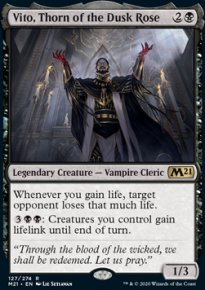 Vito, Thorn of the Dusk Rose 1 - Core Set 2021
