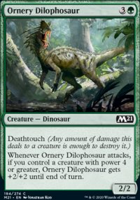 Ornery Dilophosaur - Core Set 2021