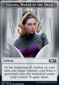 Emblem Liliana, Waker of the Dead - Core Set 2021