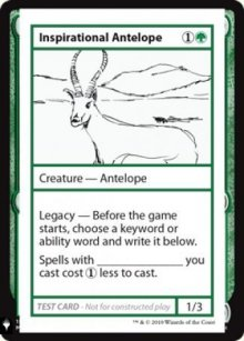 Inspirational Antelope - Mystery Booster