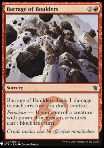 Barrage of Boulders - Mystery Booster