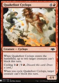 Quakefoot Cyclops - Mystery Booster