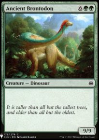 Ancient Brontodon - Mystery Booster