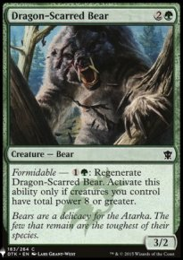 Dragon-Scarred Bear - Mystery Booster