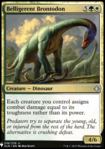 Belligerent Brontodon - Mystery Booster