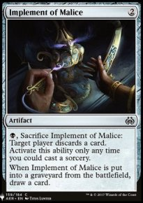 Implement of Malice - Mystery Booster