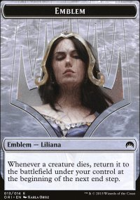 Emblem Liliana, Defiant Necromancer - Magic Origins
