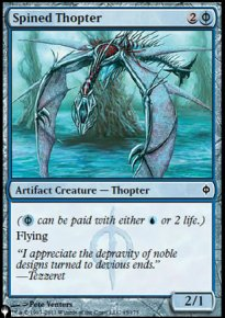 Spined Thopter - The List