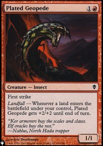 Plated Geopede - The List