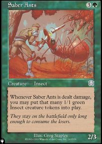 Saber Ants - The List
