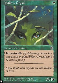 Willow Dryad - The List