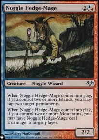 Noggle Hedge-Mage - The List