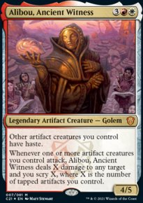 Alibou, Ancient Witness 1 - Commander 2021
