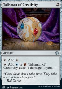 Talisman of Creativity - Commander 2021