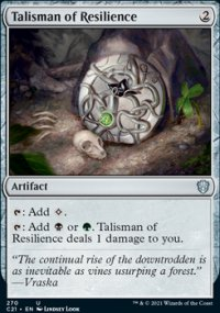 Talisman of Resilience - Commander 2021