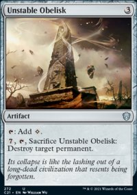 Unstable Obelisk - Commander 2021