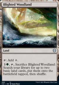 Blighted Woodland - Commander 2021