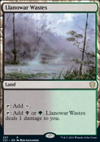 Llanowar Wastes - Commander 2021