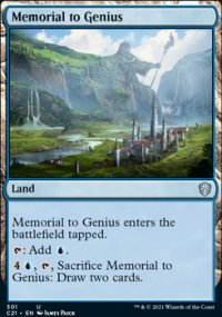 Memorial to Genius - Commander 2021