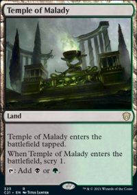 Temple of Malady - Commander 2021