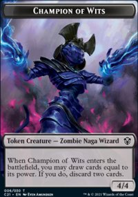 Champion of Wits Token - Commander 2021
